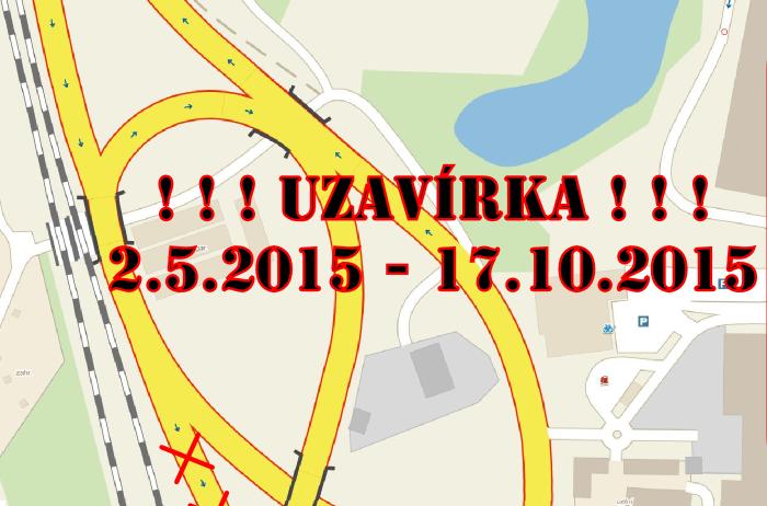 Omezení dopravy 2.5. - 17.10. 2015